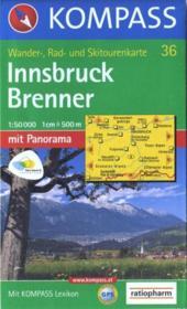 Innsbruck; Brenner ; mit panorama ; mit kompass lexikom - Couverture - Format classique