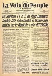 Voix Du Peuple De Touraine (La) N°1270 du 28/11/1965 - Couverture - Format classique