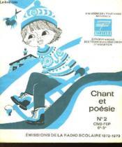 CHANT ET POESIE N°2 - CM2-FEP 6e-5e - Couverture - Format classique