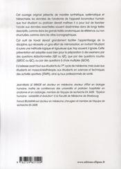 Aide-mémoire d'anatomie descriptive humaine ; appareil locomoteur - 4ème de couverture - Format classique