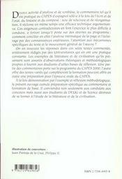 Le Commentaire Dirige Capes/Agregation Espagnol - 4ème de couverture - Format classique
