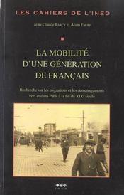 La mobilité d'une génération de francais - Intérieur - Format classique