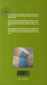 Poser les lambris - 4ème de couverture - Format classique