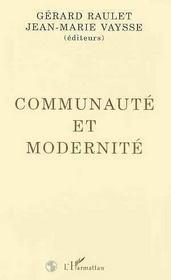 Communaute Et Modernite - Intérieur - Format classique
