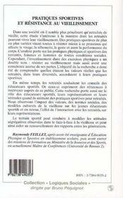 Pratiques Sportives Et Resistance Au Vieillissement - 4ème de couverture - Format classique