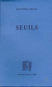Seuils - Couverture - Format classique