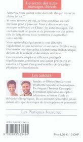 Secret Des Auto-Massages Chinois N.83 - 4ème de couverture - Format classique