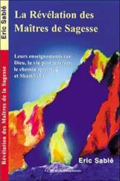 Revelation Des Maitres De Sagesse - Couverture - Format classique