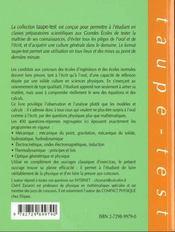 400 Questions De Physique Pour Examens Concours Et Sans Calculs Pcsi-Mpsi-Ptsi Psi-Psi*-Pc-Pc*-Mp-M - 4ème de couverture - Format classique