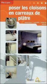 Poser les cloisons en carreaux de plâtre - Couverture - Format classique