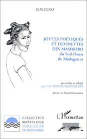Joutes Poetiques Et Devinettes Des Masikoro Du Sud-Oue - Couverture - Format classique