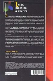 Le JT, machine à décrire - 4ème de couverture - Format classique