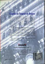Gagnez De L'Argent En Bourse - 4ème de couverture - Format classique