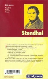 Stendhal - 4ème de couverture - Format classique