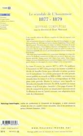 Emile Zola Oeuvres Completes T8 Le Scandale De L Assommoir (1877 1879) - 4ème de couverture - Format classique