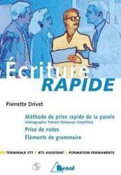 Ecriture Rapide - Couverture - Format classique