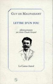 Lettres D'Un Fou - Couverture - Format classique