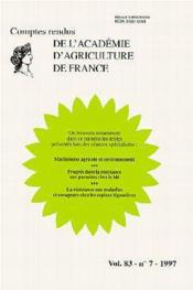 Machinisme agricole et environnement compte - Couverture - Format classique