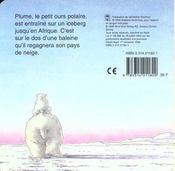 Le voyage de plume - 4ème de couverture - Format classique