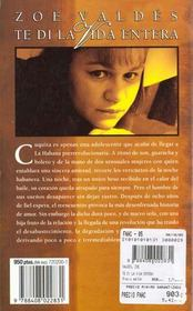 Te di la vida entera - 4ème de couverture - Format classique
