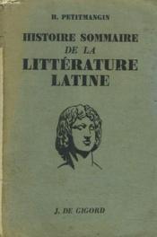 Histoire Sommaire De La Litterature Latine - Couverture - Format classique