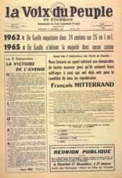 Voix Du Peuple De Touraine (La) N°1272 du 12/12/1965 - Couverture - Format classique