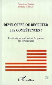 Developper Ou Recruter Les Competences ? Les Strategies Americaines De Gestion Des Competences - Intérieur - Format classique