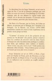 Eclats ; D'Une Poetique Du Devenir Humain 1976-1999 - 4ème de couverture - Format classique