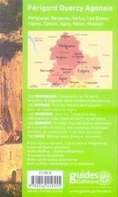 GEOGUIDE; périgord, quercy, agenais ; périgueux, bergerac, sarlat (édition 2007-2008) - 4ème de couverture - Format classique