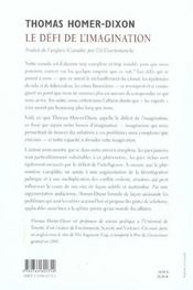 Defi De L'Imagination (Le) - 4ème de couverture - Format classique