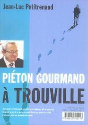 Pieton gourmand a deauville - 4ème de couverture - Format classique