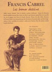 Francis cabrl : les beaux dessins - 4ème de couverture - Format classique