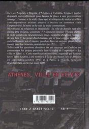 Les villes de la puissance ; Athènes ville en éclats - 4ème de couverture - Format classique