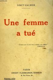 Une Femme A Tue. - Couverture - Format classique