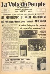 Voix Du Peuple De Touraine (La) N°1274 du 26/12/1965 - Couverture - Format classique