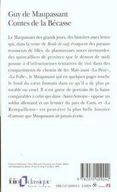 Contes De La Becasse - 4ème de couverture - Format classique