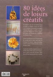80 idées de loisirs créatifs - 4ème de couverture - Format classique