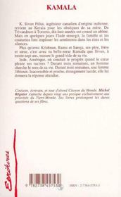 Kamala - 4ème de couverture - Format classique