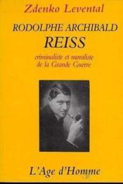Rodolphe Archibald Reiss - Couverture - Format classique