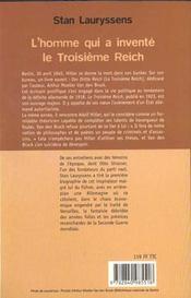 L'Homme Qui A Invente Le 3e Reich - 4ème de couverture - Format classique