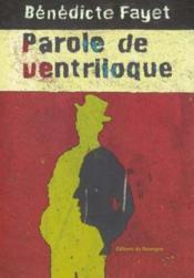 Paroles De Ventriloque - Couverture - Format classique
