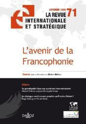 Vente livre :  L'avenir de la Francophonie  - Billion-D - Didier Billion