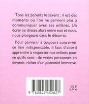 81 Facons De Communiquer Avec Ses Enfants - 4ème de couverture - Format classique