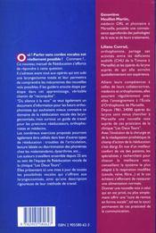 Du silence à la voix ; nouveau manuel de réeducation après laryngectomie totale - 4ème de couverture - Format classique