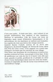 Contes Et Legendes De L'Ile De Corse - 4ème de couverture - Format classique