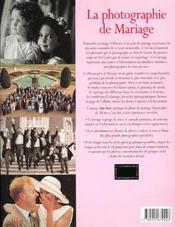 La Photographie De Mariage - 4ème de couverture - Format classique