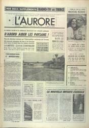 Aurore (L') N°9889 du 26/06/1976 - Couverture - Format classique