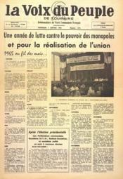 Voix Du Peuple De Touraine (La) N°1275 du 02/01/1966 - Couverture - Format classique