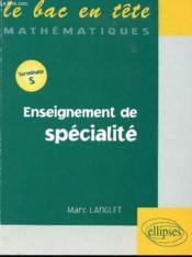 Enseignement De Specialite Terminale S - Couverture - Format classique