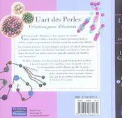 L'art des perles - 4ème de couverture - Format classique